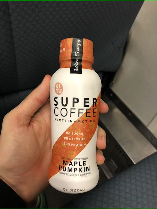 taking my super coffee on my morning commute